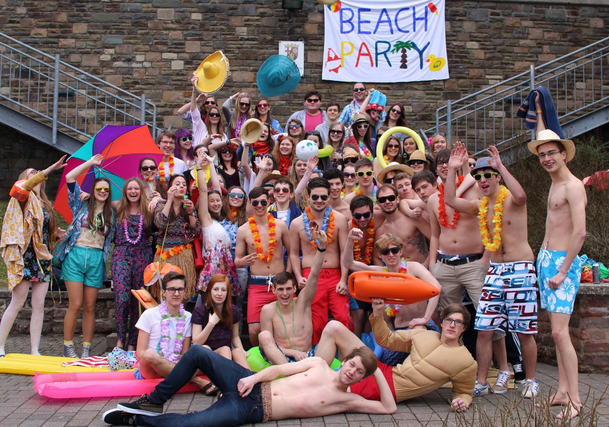 Beachparty. Mottowoche Abi 2015 - Heute war Tag vier - St